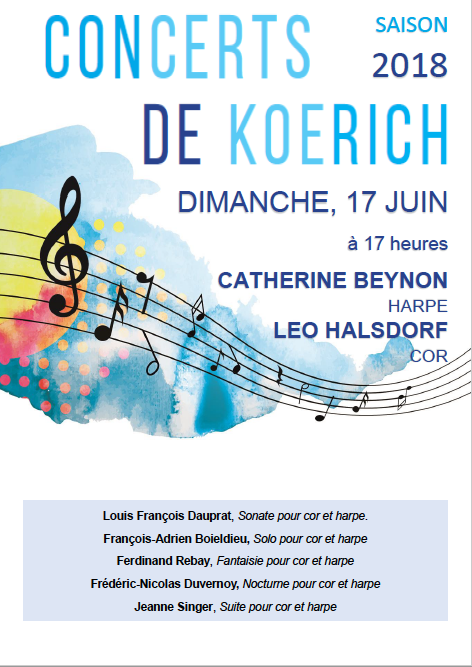 Concerts de Koerich Flyer