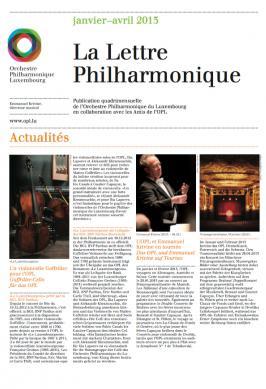 La Lettre Philharmonique 01-04 2013