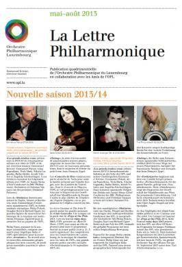 La Lettre Philharmonique 05-08 2013
