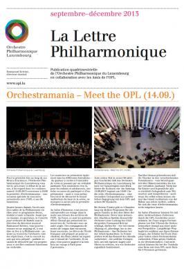 La Lettre Philharmonique 09-12 2013