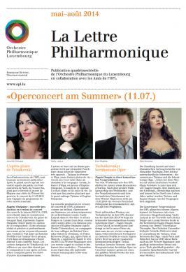 La Lettre Philharmonique 05-08 2014