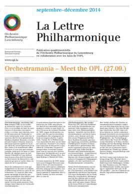 La Lettre Philharmonique 09-12 2014